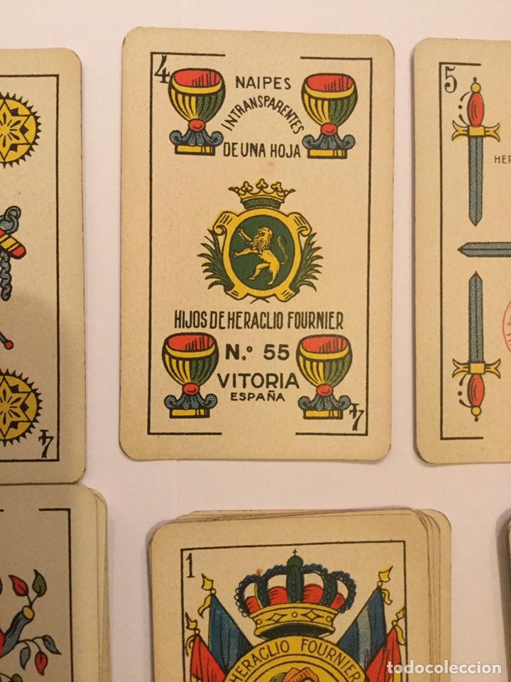 Barajas de cartas: Antigua Baraja Española Cartas Heraclio fournier Vitoria Nº 55 Naipes transparentes 50 cartas - Foto 2 - 195242795