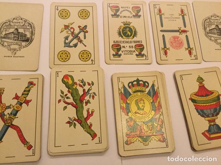 Barajas de cartas: Antigua Baraja Española Cartas Heraclio fournier Vitoria Nº 55 Naipes transparentes 50 cartas - Foto 4 - 195242795