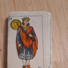 Barajas de cartas: 1 MINI BARAJA COMPLETA DE ** BARAJA ESPAÑOLA ** EN BLOQUE . Lote 195242871