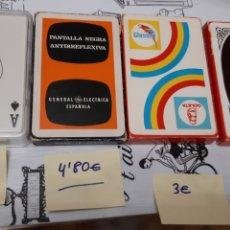 Barajas de cartas: 4 BARAJAS NAIPES CARTAS HERACLIO FOURNIER. Lote 195251202