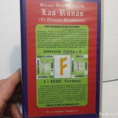 Barajas de cartas: BARAJA ANTIGUA LAS RUNAS EL ORACULO GERMANICO EN BLISTER SIN ABRIR. Lote 195337985