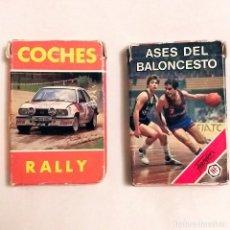 Barajas de cartas: BARAJAS INFANTILES HERACLIO FOURNIER COCHES RALLY Y ASES BALONCESTO AÑOS 80. Lote 195338320