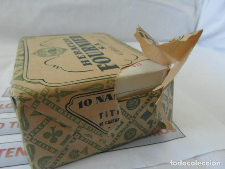 Barajas de cartas: Antiguo paquete de naipes TITI Heraclio Fournier S.A. Vitoria,contiene 10 paquetes de 40 cartas - Foto 8 - 195378542