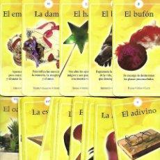 Barajas de cartas: RARISIMA BARAJA DE TAROT FAUNA FLORA INDUSTRIA COMPLETA 74 CARTAS ESTADO PERFECTO. Lote 195424071