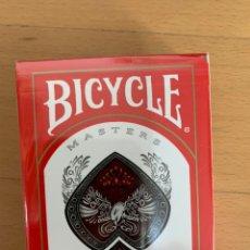 Barajas de cartas: BICYCLE MÁSTER EDICIÓN ROJA. BARAJA PÓKER Y CARTOMAGIA. Lote 195478123