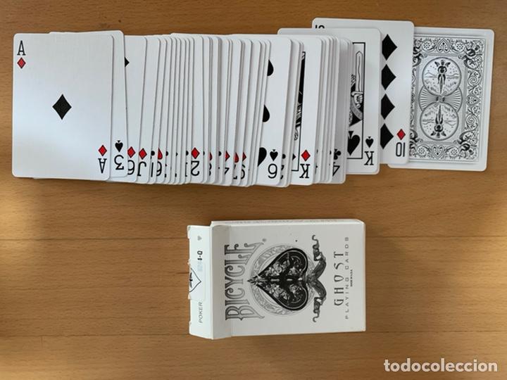 BARAJA PÓKER Y CARTOMAGIA BICYCLE GHOST BLANCA (Juguetes y Juegos - Cartas y Naipes - Barajas de Póker)