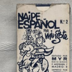 Jeux de cartes: MINGOTE. HERACLIO FOURNIER. NAIPE ESPAÑOL Nº2 POR EDITADO POR MYR. 50 CARTAS. AÑOS SETENTA. Lote 195607598