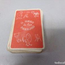 Barajas de cartas: ANTIGUA BARAJA CARTAS INFANTIL COMPLETA EL JUEGO DE LAS PAREJAS EDICIONES RECREATIVAS. Lote 196106868