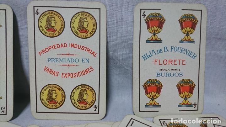 Barajas de cartas: ANTIGUA BARAJA FLORETE, HIJA DE B. FOURNIER, BURGOS - Foto 2 - 196386450