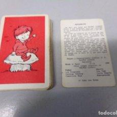 Barajas de cartas: BARAJA CARTAS. JUEGO DE PAREJAS. PULGARCITO. NAIPES COMAS.. Lote 196454150