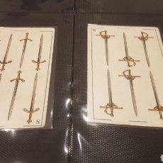 Barajas de cartas: 2 CROMOS 6 Y 8 DE ESPADAS MARCA PICAZO. Lote 196548942