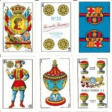 Barajas de cartas: BARAJA ESPAÑOLA OFICIAL DEL F.C. BARCELONA. Nº 32 HERACLIO FOURNIER. Lote 196552302