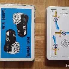 Barajas de cartas: BARAJA CARTAS FOURNIER - MAQUINA DE AFEITAR PHILIPS - PUBLICIDAD MEYSI HELTEVA. VER FOTOS Y LEER. Lote 197079278