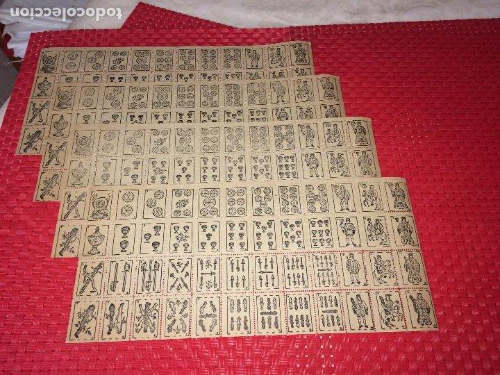 Barajas de cartas: NAIPES ESPAÑOLES EN PLIEGOS DE PAPEL - CON NUMERACIONES TRASERAS - AÑOS 30/40 - Foto 4 - 197090880