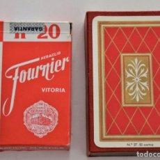 Barajas de cartas: LOTE 2 BARAJAS DE CARTAS HERACLIO FOURNIER Nº 20 Y Nº 27 CON CAJAS Y MUY BUEN ESTADO, COMPLETAS. Lote 197125387