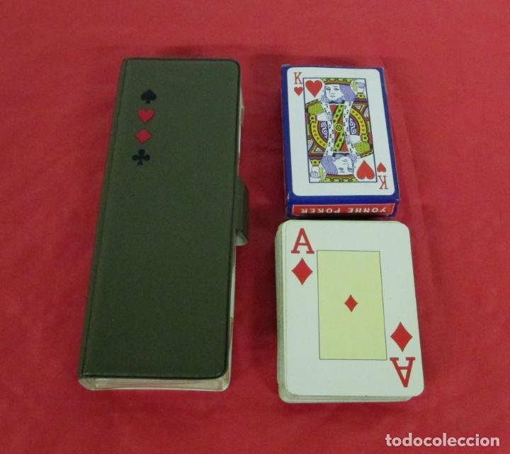 Barajas de cartas: ESTUCHE LOTE 2 BARAJAS DE POKER - 55 CARTAS HERACLIO FOURNIER 818 + OTRA Y TAPETE MALAGA VIRGEN PROM - Foto 2 - 197317138