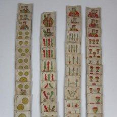 Baralhos de cartas: BARAJA DE NAIPES L. GUARRO, BARCELONA - INTRASPARENTE DE UNA HOJA - TIMBRE 30 CTS - EL CABALLITO. Lote 197613967