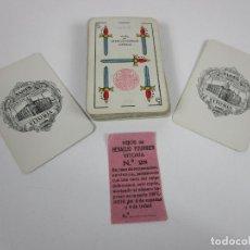 Barajas de cartas: BARAJA DE NAIPES HIJOS DE HERACLIO FOURNIER, VITORIA - TIMBRE 1 PTAS - PAPEL DE RECLAMACIÓN. Lote 197615400