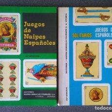 Jeux de cartes: LOTE LIBROS JUEGOS DE NAIPES ESPAÑOLES FOURNIER. Lote 212314528