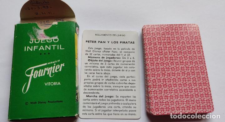 Barajas de cartas: Baraja infantil PETER PAN Y LOS PIRATAS (Edición 1983) - Foto 3 - 197847158