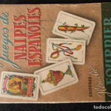 Jeux de cartes: LIBRO-JUEGOS NAIPES ESPAÑOLES-ED.HERACLIO FOURNIER (8º EDICION-AÑO 1953). Lote 197987803