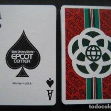 Barajas de cartas: BARAJA DE POKER WALT DISNEY WORLD. EPCOT CENTER. Lote 198066353