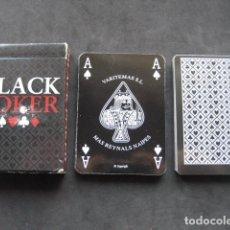 Barajas de cartas: BARAJA DE POKER BLACK POKER. Lote 198066546