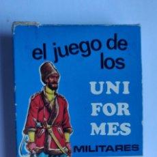 Barajas de cartas: BARAJA INFANTIL EL JUEGO DE LOS UNIFORMES MILITARES. Lote 198115903
