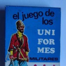 Barajas de cartas: BARAJA INFANTIL EL JUEGO DE LOS UNIFORMES MILITARES. Lote 198119256
