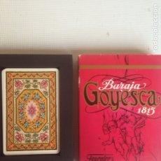 Barajas de cartas: BARAJA DE CARTAS - BARAJA GOYESCA 1815- FOURNIER. Lote 198163225