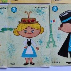 Barajas de cartas: CARTAS SUELTAS BARAJA INFANTIL EL JUEGO DE LAS RAZAS. Lote 246714300