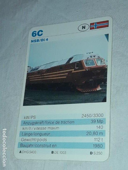CARTA DE BARAJA DE TRENES (Juguetes y Juegos - Cartas y Naipes - Otras Barajas)