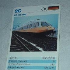 Barajas de cartas: CARTA DE BARAJA DE TRENES. Lote 198822502
