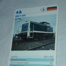 Barajas de cartas: CARTA DE BARAJA DE TRENES. Lote 198822823