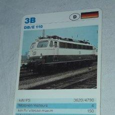 Barajas de cartas: CARTA DE BARAJA DE TRENES. Lote 198823686