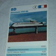 Barajas de cartas: CARTA DE BARAJA DE TRENES. Lote 198825001
