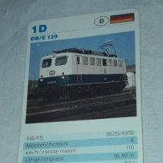 Barajas de cartas: CARTA DE BARAJA DE TRENES. Lote 198825315