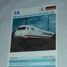 Barajas de cartas: CARTA DE BARAJA DE TRENES. Lote 198825832