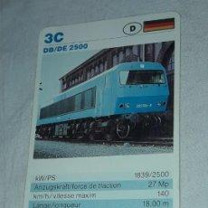 Barajas de cartas: CARTA DE BARAJA DE TRENES. Lote 198826182