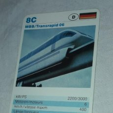 Barajas de cartas: CARTA DE BARAJA DE TRENES. Lote 198828858