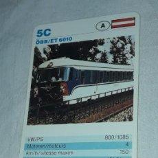 Barajas de cartas: CARTA DE BARAJA DE TRENES. Lote 198829407