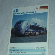 Barajas de cartas: CARTA DE BARAJA DE TRENES. Lote 198830008