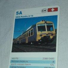 Barajas de cartas: CARTA DE BARAJA DE TRENES. Lote 198831350