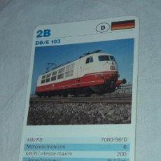 Barajas de cartas: CARTA DE BARAJA DE TRENES. Lote 198831642