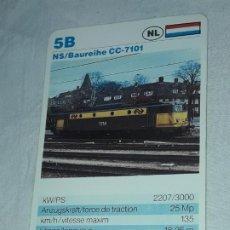 Barajas de cartas: CARTA DE BARAJA DE TRENES. Lote 198831957