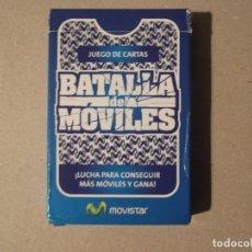 Barajas de cartas: JUEGO DE CARTAS LA BATALLA DE LOS MOVILES -MOVISTAR. Lote 199051511