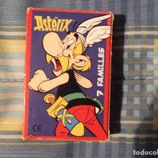 Barajas de cartas: JUEGO DE CARTAS ASTERIX 7 FAMILIAS. Lote 199051742