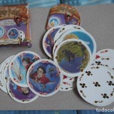 Barajas de cartas: JUEGO DE CARTAS HARRY POTTER CIRCULAR. Lote 199053080