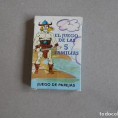 Barajas de cartas: JUEGO DE CARTAS EL JUEGO DE LAS 5 FAMILIAS. Lote 199055783