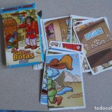 Barajas de cartas: JUEGO DE CARTAS EL GATO CON BOTAS. Lote 199057501